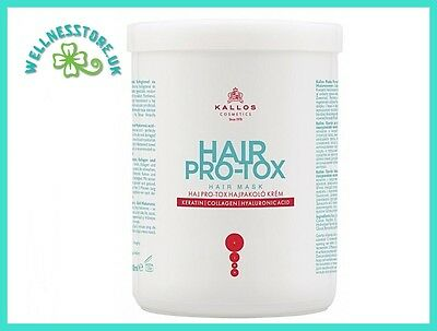 Kallos Professional Hair Masks 1000ml HAIR PRO-TOX with Collagen&Keratin