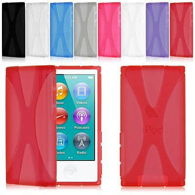 Silicone Gel Soft Anti-slip Case Cover Skin For Apple iPod Nano 7 7th Generation