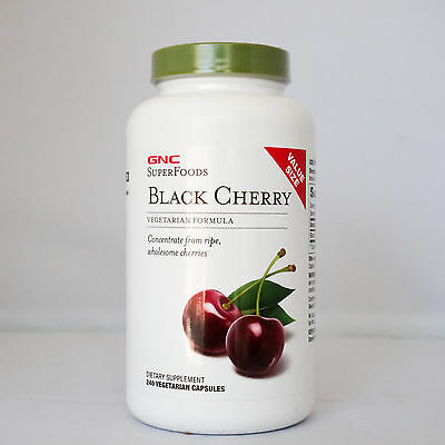 GNC SuperFoods Black Cherry VALUE SIZE (240 Capsules)-Joint Health