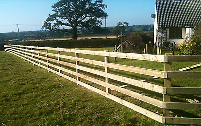 2 PACK OF 3.6m TIMBER TREATED FENCING RAILS 38X88 POST AND RAIL