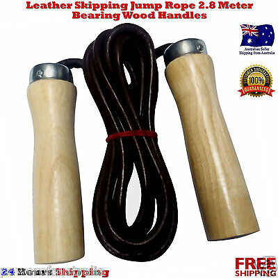 Fitness Leather Skipping Jump Rope, Speed Jumping Rope Swivel Boxing Mma Ufc New