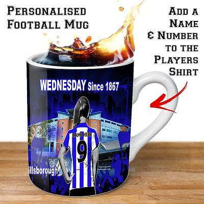Personalised SHEFFIELD WEDNESDAY Womens Football Cup Ladies Gift Mug