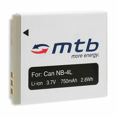Batteria NB-4L per Canon IXUS 30, 40, 50, 55, 60, 65, 70, 75, 80 IS, 100 IS