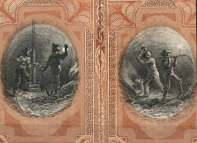 LOT OF 10 RARE 1880's MINING VIGNETTES (2 DIFF!) 99c! GREAT 4 RESALE or PROJECTS