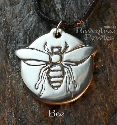 Bee - Pewter Pendant - Bee Keeper and Honey Jewelry, Necklace