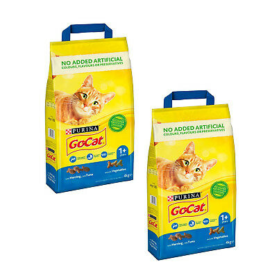 Dry Cat Food Go-Cat Adult Tuna Herring and Vegetable 8 kg (2 Packs x 4 kg.)