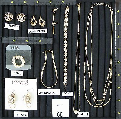 New & Pre Owned Designer Signed Jewelry; Multiple Item Lot: Macy's, 1928, Monet