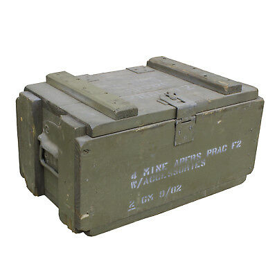 Ex Army Mine Apers Box, Ex Australian Army Box, Mine Apers Ammo Box Ex Army Mine