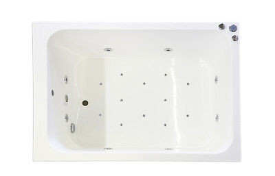 20 Jet Oriental Deep Soaking Japanese Whirlpool Bath 1400 x 1000 mm Jacuzzi Spa