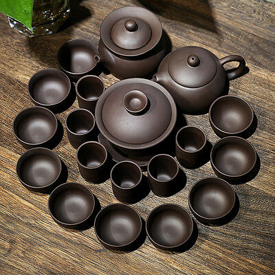 Chinese kungfu tea set 19pcs yixing zisha teasets tea pot tea cup pitcher gaiwan