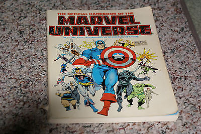 The Official Handbook of the Marvel Universe Vol 1 (1986, Marvel)