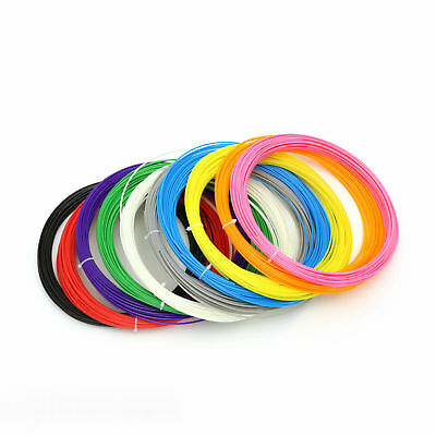 10 Pack x 10m ABS Filament 1.75mm For 3D Printer Printing Drawing Pen