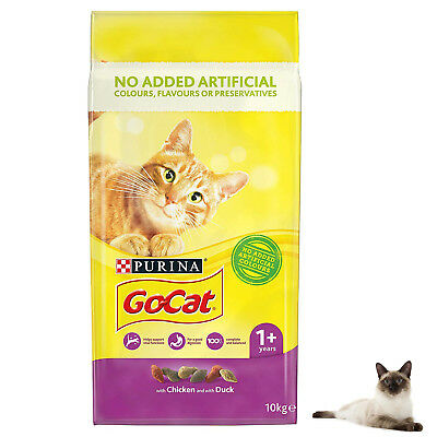 Dry Cat Food Go-Cat Adult Complete Food Chicken and Duck 10kg Fast Delivery