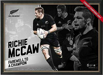 Richie McCaw Retirement New Zealand All Blacks Farewell to a Legend Print Framed