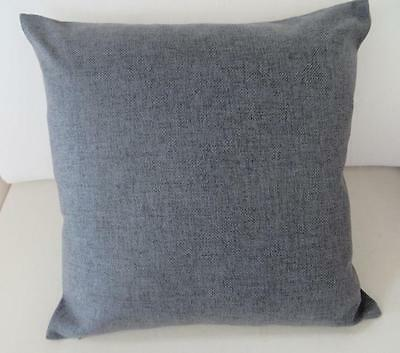 Charcoal Grey Solid Double Sided Linen Look Cushion Cover 45cm