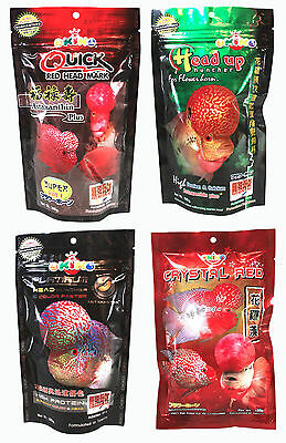 OKIKO High Quality Flowerhorn and Cichild Fish Food 100g. Pellet Size L,XL