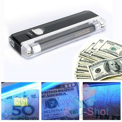 HOT Portable UV Handheld BANKNOTE Checker Money Tester Black Light Forged