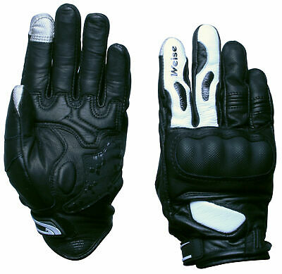 Weise Scorpio Mens Motocyle Leather Gloves iphone / android touch screen finger