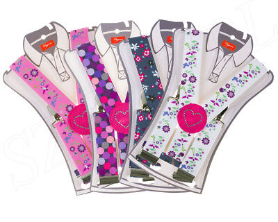 Childrens Kids Girls Funky Patterned Adjustable Braces Age 1-6 yrs Gift