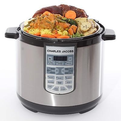 Multi Function 7in1 Electric Pressure Cooker Stainless Steel Pot 8 Litre New