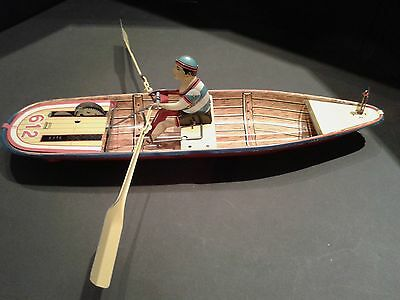 Vintage 1932 Boat Lithography Tin Toy 1988 Repro Paya #612 Rare Large Scale