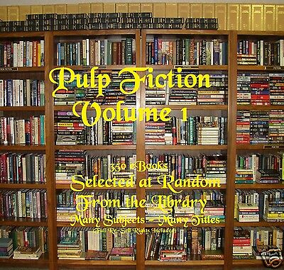 CD - Pulp Fiction Collection Vol.1 - 350 eBooks (Resell Rights)