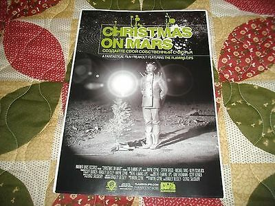 The Flaming Lips Christmas On Mars Poster cd/dvd/lp vinyl record art indie rock!
