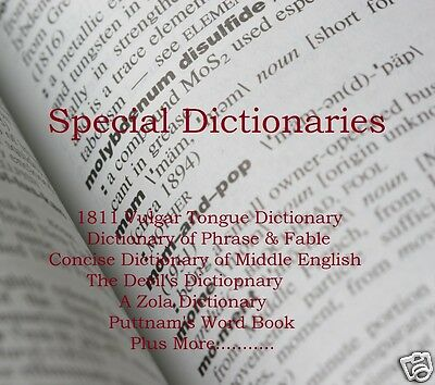 "CD - Special Dictionaries Collection - ""The Vulgar Tongue"" 9 eBooks (Resell)"