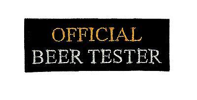 Patch ecusson brode backpack official beer tester biker moto thermocollant