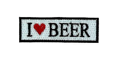 Patch ecusson brode backpack i love biere beer  biker moto thermocollant motard