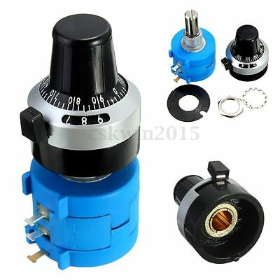 5K Ohm 3590S-2-502L Potentiometer With 10 Turn Counting Dial Rotary Knob & Nut