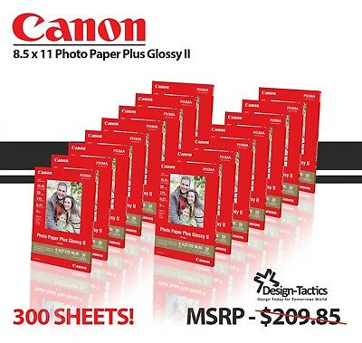 Canon 85 X 11 Photo Paper Plus Glossy Ii 300 Sheets 15 Packs