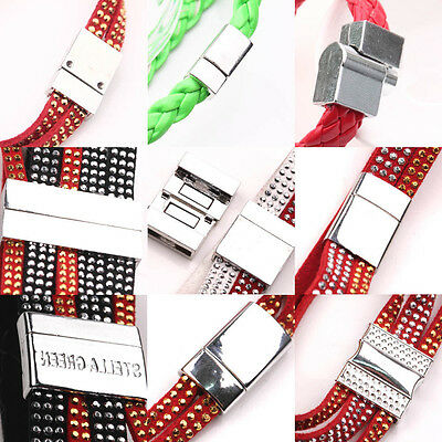 Hot 5Sets Silver Plated Magnetic Clasps Connectors Bracelet Jewelry DIY Lots