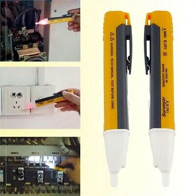 Voltage Tester Pen Non-Contact Electric Volt Alert Detect CAT III AC 90-1000V UK