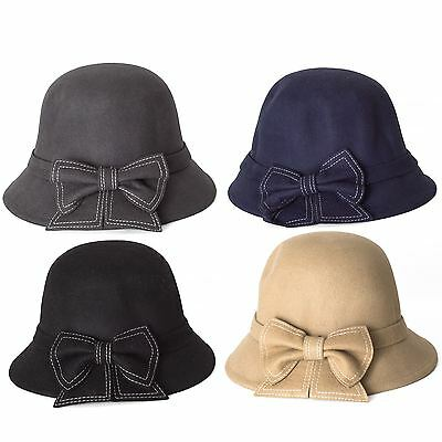 Cloche Hat with a Beautiful Bow