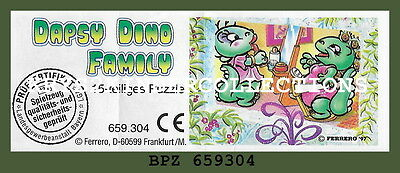 BPZ kinder Puzzle 2D Dapsy Dino Family 659304 Allemagne 1997