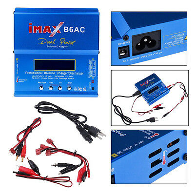 iMax B6AC LCD Screen Lipo Nimh Nicd RC Battery Balance Charger Discharger Cables