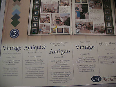 NIP Creative Memories VINTAGE Antique 10 x 12  Photo Mounting Paper