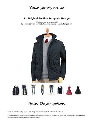 eBay HTML Auction Listing Template more Gallery Photo for Clothing Category