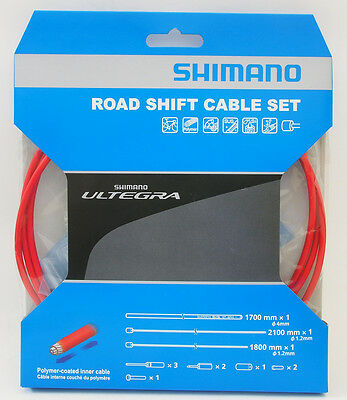 Shimano Ultegra 6800 Road Polymer coated Shift Cable Housing Set, Red