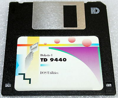 "Td 9440 T9400 Trident Diskette 1 Dos Utilities Floppy Disk 3.5"" Fdd Driver"