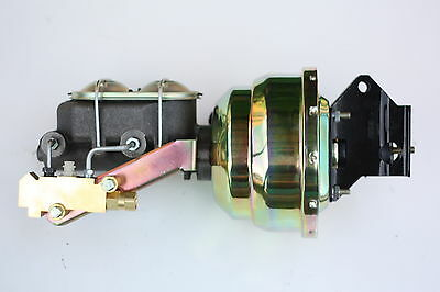 """1957-72 Ford Truck 8"""" dual booster master cylinder side disc/disc prop E81A3"""