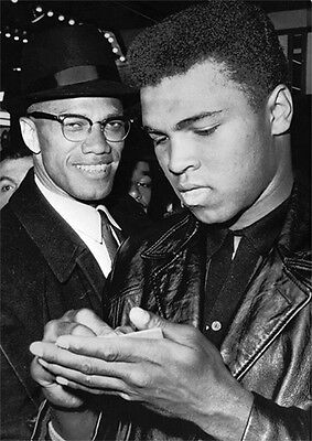 Cassius Clay and Malcolm X Awsome POSTER
