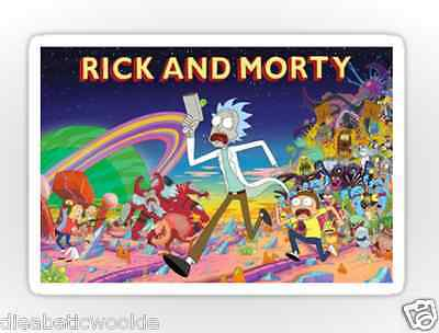 Rick and Morty Sticker decal car laptop scrapbook