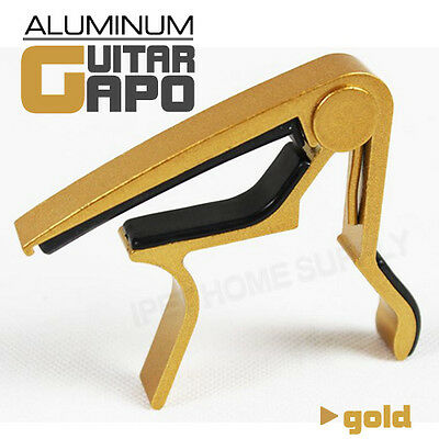 Aluminum Gold Guitar Capo Spring Trigger Electric Acoustic Quick Change Release
