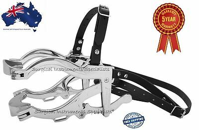 Horse Dental Speculum Equine Mouth Gag Drop Forged Biothane Strap Prem Quality