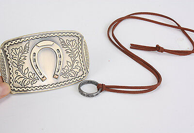 Uncharted 3 Drake's Deception Sir Francis Edition Belt Buckle & Ring Necklace