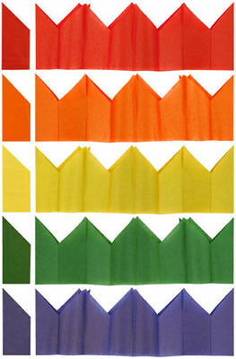 100 Christmas Cracker Hats - Assorted Colours