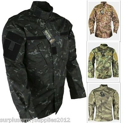 Us Army Style Ripstop Shirt Sas Combat Lightweight Jacket Paintballing Airsoft