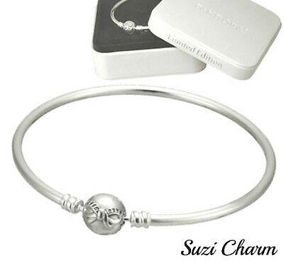 830a17a89 Authentic Pandora 925 Silver Dainty Bow Bangle Gift Set 8.3 590702HV NEW IN  BOX